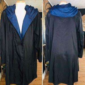 NWT DONA MYCRA PAC UMBRELLA COAT BLUE Size S/M
